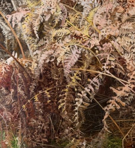 Fern, 2017, oil on canvas, 24 x 22 cm