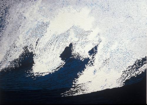 Ripp, 2000, acrylic and polystyrene on canvas, 5 x 7 cm