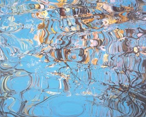 Autumn Blue, 2004, acrylic and resin on canvas, 60 x 75 cm