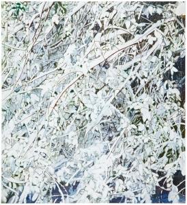 Heavy, 2012, acrylic and glitter on canvas, 72 x 66 cm